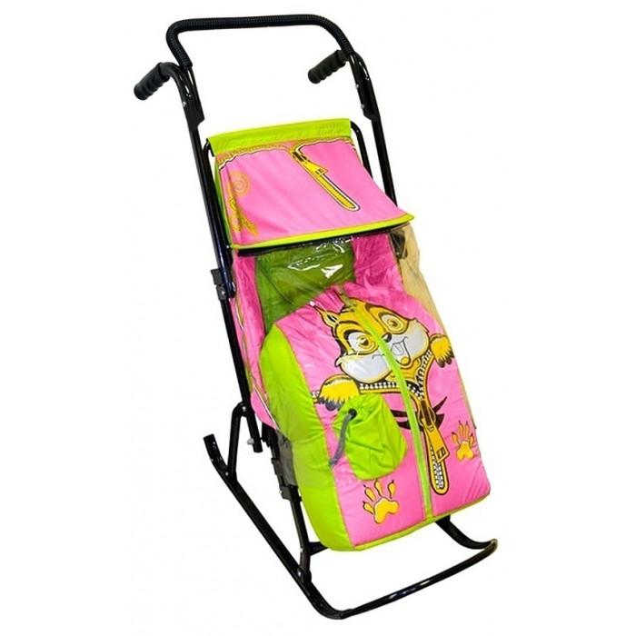 Санки-коляска R-Toys Снегурочка 2-Р Бельчонок