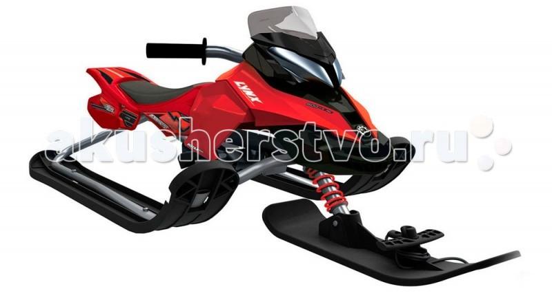 Снегокат R-Toys Snow Moto Ski Doo MXZ-XSnow Moto Ski Doo MXZ-XСнегокат R-Toys Snow Moto Ski Doo MXZ-X У этой модели очень красивое матовое черное покрытие рамы. Лидеры продаж 3 сезонов — лучшие среди снегокатов!  Юный гонщик на таком снегокате будет примером для любой леди, которая тоже захочет такой модный транспорт. А технические характеристики смогут успокоить родителей в безопасности этого дизайнерского чуда!   Снегокат R-Toys Snow Moto Ski Doo MXZ-X поможет быстрому развитию общей моторики, приобретению навыков координации и равновесия ребенка. Ваш малыш научится контролировать ситуацию, развивать скорость, быстро тормозить и совершенствовать умение управлять этим видом транспорта. Это бесценный опыт.   Особенности: С помощью новейших технологий производства ударопрочный пластик не подвержен деформации Выдерживает нагрузку до 70 кг  Ее треснет на морозе Поворотный руль Управлять им очень легко Маневренность - 10 баллов  МАмортизатор на передней лыже помогает на холмистых горках. Благодаря ему ребенок не ощутит неровности дороги Безопасная и современная тормозная система Регулируемое сиденье под любой рост малыша Улучшенная система рулевого управления за счет новой формы боковых лыж «Twin Tip». При повороте изогнутый край лыжи скользит быстрее по сравнению с обычной прямой лыжей, тем самым улучшается маневренность Буксировочный трос - веревка очень удобно с помощью защелки фиксируется на передней лыже.   Размеры: 51 x 121 x 47 см<br>