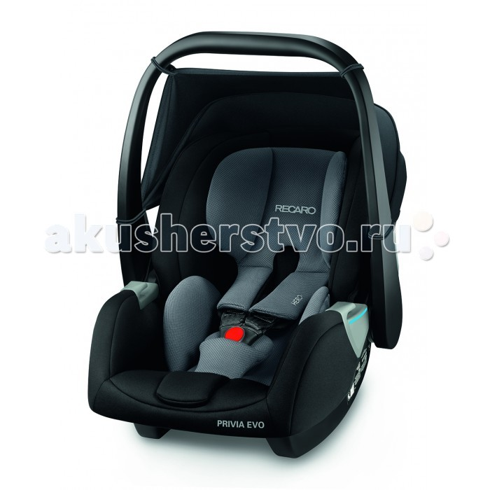 Автокресло Recaro Privia EVOPrivia EVOАвтокресло Recaro Privia EVO - обеспечивает высокий уровень комфортна и безопасности для вашего малыша. Кресло оснащено инновационной системой Hero - плечевая поддержка, ремни и подголовник образуют единый блок, который гарантирует максимально возможный уровень удобства и безопасности для шеи, головы и плеч малыша. Для исключения ошибок в установке и эксплуатации, все элементы крепления и регулировки кресла окрашены в контрастные цвета, что делает использование интуитивно понятным. Чтобы ребенку было удобно спать, в кресле предусмотрена подушка-вкладыш для самых маленьких и большой солнцезащитный козырек с защитой от ультрафиолета UV 40+.   Особенности: 3-х точечные ремни с централизованной системой натяжения и защитой от перекручивания  имеет изогнутое основание для укачивания малыша  быстросъемный наружный чехол — для деликатной стирки функциональная система безопасности Hero – дополнительная защита малыша во время поездки  несколько способов крепления — штатным ремнем или при помощи базы Recaro SmartClick (ISOFIX), которая приобретается отдельно (в дальнейшем на эту базу можно установить автокресло группы 1)  новая, более эргономичная ручка для переноски кресла регулируется в 3-х положениях  козырёк для защиты от ветра и солнца (защита от ультрафиолета UV 40+). одобрено для использования в самолетах.<br>