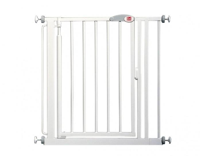 Red Castle AUTO-Close Ворота безопасности для дверей и лестниц 75-82AUTO-Close Ворота безопасности для дверей и лестниц 75-82Ворота безопасности Red Castle AUTO-CLOSE для дверей и лестниц. Установив ворота в верхней или нижней части лестницы, вы защитите вашего малыша от вероятных падений. Ворота закрываются и защелкиваются автоматически, учитывая тот факт, что ребенок старшего возраста или взрослый могут забыть закрыть их за собой.  Благодаря передовой патентованной системе креплений, колесики креплений не могут быть развинчены маленьким ребенком. Воротабыстро и легко фиксируются на стене или в дверном проеме. Части Y- формы (опция), позволяют крепить ворота к закругленным частям стойки перил на концах лестничных маршей.   Ворота закрываются и защелкиваются автоматически, учитывая тот факт, что ребенок старшего возраста или взрослый могут забыть закрыть их за собой.   Благодаря передовой патентованной системе креплений, колесики креплений не могут быть развинчены ребенком. Ворота безопасности легко фиксируются на стене или в дверном проеме благодаря специальным плотно прилегающим чашечкам.  Ворота регулируются по длине.   Ворота металлические, покрыты белой краской с нанесением лака. Вы можете выбрать направление, в котором открываются ворота. В целях безопасности, ворота не открываются в оба направления одновременно.   Особенности: Регулируемая длина ворот: 75 до 82 см  Высота от пола: 75,5 см  Удлиняющие вставки: 7, 14 и 36 см доступны в виде опций.  С помощью вставок вы можете увеличить длину до максимального размера - 155 см  Внимание: На поверхности, оклеенные обоями, а также на окрашенные поверхности, с имеющимися дефектами в виде пузырей или отшелушивания, упорные чашки следует крепить шурупами.<br>