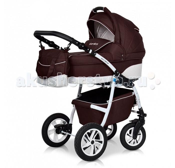 Коляска Riko Sonata 3 в 1Sonata 3 в 1Коляска Riko Sonata 3 в 1 предназначена для детей с рождения и до 3-х лет. Многофункциональная транспортная система, обеспечивающая комфорт и безопасность на прогулках с Вашим ребенком.  Детская универсальная коляска изготовлена с использованием высококачественных легких дышащих текстильных материалов, имеет небольшой вес и отличную маневренность на дороге.  В комплект коляски входит автокресло 0+, спальная люлька для новорожденного и прогулочный блок для подросшего малыша, которые можно устанавливать по ходу движения или против хода движения. Люлька коляски комфортная и удобная, сделана внутри из 100 % хлопка. Дно люльки – жесткое, это очень важно для правильного формирования позвоночника новорожденного малыша.  Люлька: Непромокаемая тканевая люлька с элементами выполненными из перфорированной Эко кожи и жестким дном; Регулируемый по высоте подголовник; Вентилируемое смотровое окошко в капюшоне; Удобная ручка для переноски, расположенная на капюшоне; Регулируемый капюшон; Внутренняя вкладка выполнена из 100% хлопка, легко снимается для стирки; Возможность установки люльки в 2 положениях (лицом к маме, или лицом по направлению движения коляски). Размеры внутренние люльки: длина 76 см. ширина 37 см. высота 22 см. Вес: 4,73 кг.  Прогулочный блок: 3 положения регулировки спинки, в том числе до горизонтального; Регулируемая подножка; Регулируемый капюшон; Съемный бампер; Возможность установки прогулочного блока в 2 положениях (лицом к маме, или лицом по направлению движения коляски). Размеры прогулочного блока: ширина 36 см. длина 84 см. Вес: 4,3 кг.  Автокресло: Подходит детям с рождения до 13 кг Категория 0+ Фиксируется на раму через переходник, переходник в комплекте Отвечает всем стандартам безопасности Ребенок фиксируется в кресле трехточечным ремнем Кресло в автомобиле фиксируется против хода движения, штатным ремнем.  Шасси: Удобный и простой механизм складывания коляски; Легкий и простой механизм снятия и установки съемных мо