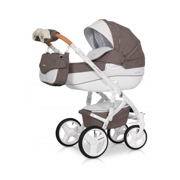 Коляска Riko Bruno Luxe 2 в 1Bruno Luxe 2 в 1Коляска Riko Bruno Luxe 2 в 1 модель в современном, стильном дизайне.   Коляска Riko Bruno Luxe обеспечит вашему малышу самые лучшие условия для увлекательных прогулок и комфортного полноценного сна во время прогулок на свежем воздухе. Ребенок будет прекрасно себя чувствовать в просторной люльке, а комфортное прогулочное сиденье для подросшего ребенка предоставит наилучшие условия для изучения окружающего мира. Эта модель коляски на алюминиевой раме обладает отличной проходимостью за счет легкого хода и надувных колес. Классическая компоновка колес придает коляске дополнительную устойчивость во время прогулки. Современная система амортизации колес позволяет легко преодолевать любые препятствия на прогулке, и при этом сохраняется мягкость хода, обеспечивая спокойный сон вашего малыша.   Особенности: Просторная пластиковая люлька Прогулочное сидение со всеми возможными регулировками Закрытая корзина Родительская сумка Вставки из премиальной кожи и улучшенное качество ткани с оригинальными расцветками Надувные колеса Алюминиевая конструкция Коляска для малышей: от 0 до 3 лет Вес рамы: 10.17 кг Вес рамы + люлька: 15.29 кг Вес рамы + прогулочный блок: 16.05 кг Размеры внутренние люльки: 80 х 37 х 22 см Размеры сиденья: ширина 32 см, глубина 25 см, высота спинки 41 см, длина подножки 18 см Диаметр передних колес: 24 см Диаметр задних колес: 30 см Ширина колесной базы: 60 см Размер коляски в разложенном виде (ШхДхВ): 60 х 101 х 127 см Размер сложенной рамы с колесами (ШхДхВ): 60 х 80 х 112 см Диапазон регулировки ручки по высоте: 77-120 см от пола<br>