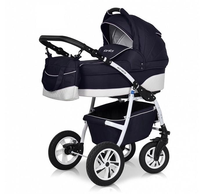 Коляска Riko Sonata2 в 1Sonata2 в 1Коляска SonataRIKO2 в 1 - универсальная детская коляска от Польского производителя Riko предназначена для детей с рождения и до 3-х лет.  В комплект коляски входит спальная люлька для новорожденного и прогулочный блок для подросшего малыша, которые можно устанавливать по ходу движения или против хода движения. Люлька коляски комфортная и удобная, сделана внутри из 100 % хлопка. Дно люльки – жесткое, это очень важно для правильного формирования позвоночника новорожденного малыша.  Прогулочное сидение легко устанавливается на раму, имеет пятиточечные ремни безопасности, съемный бампер, регулируемое положение спинки. Для удобства родителей предусмотрены регулировка высоты ручки, корзина для покупок и сумка для мамы.  Колеса надувные, камерные, с современной системой амортизации. Передние поворотные колеса с фиксатором делают эту модель коляски маневренной и легкоуправляемой. Задние колеса, обеспечивают хорошую проходимость и позволяют преодолевать любые препятствия по бездорожью на прогуле.  Люлька Sonata: Непромокаемая тканевая люлька с элементами выполненными из перфорированной Эко кожи и жестким дном; Регулируемый по высоте подголовник; Удобная ручка для переноски, расположенная на капюшоне; Внутренняя вкладка выполнена из 100% хлопка, легко снимается для стирки;  Размеры внутренние люльки: длина 76 см. ширина 37 см. высота 22 см. вес: 4,73 кг.  Прогулочный блок Sonata: 3 положения регулировки спинки, в том числе до горизонтального; Регулируемый капюшон;  Размеры прогулочного блока: ширина 36 см. длина 84 см. вес: 4,3 кг.<br>