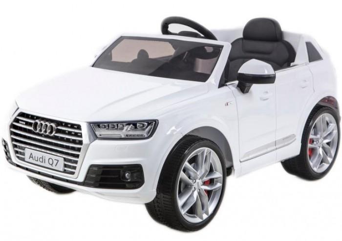 Электромобиль RiverToys Audi Q7 QuattroAudi Q7 QuattroЭлектромобиль RiverToys Audi Q7 Quattro создан для комфортных поездок по городским улицам и парковым дорожкам. Маневренный и быстрый - отличное сочетание для любителей настоящей скорости. Электромобиль отличается салоном повышенной комфортности. Удобное, мягкое кожаное сидение позволяет расположиться с максимальным комфортом и проводить много времени играя и катаясь.  Особенности: Диапазон возраста ребёнка: от 3-х до 8 лет Аккумулятор: 12V/7A Редуктор: 35Wх2 Наличие пульта дистанционного управления (настраивается по Bluetoh) Плавный ход обеспечивается за счёт наличия амортизаторов Сидение: эко-кожа Колеса: каучуковые Световые и звуковые эффекты. Подсветка панели приборов, диодные огни фар; MP3, SD-вход, USB-вход Время работы одного заряда батареи - 2 часа, напряжение батареи - 6 вольт<br>