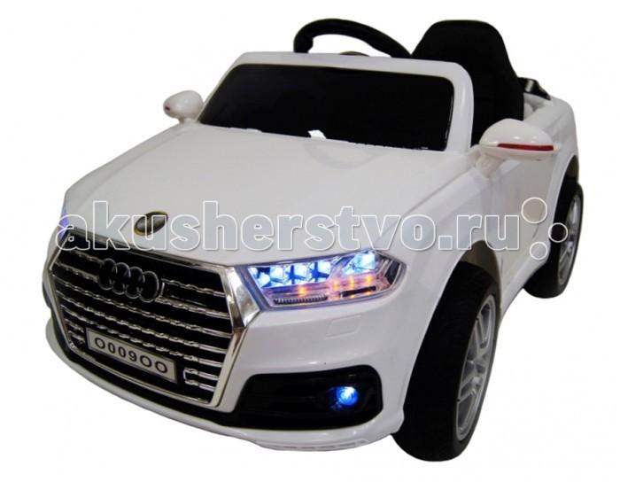 Электромобиль RiverToys Audi O009OO VIPAudi O009OO VIPЭлектромобиль RiverToys Audi O009OO VIP создает все условия для интересного катания.   В этой масштабной копии оригинальной Audi все как у взрослого прототипа: двери открываются, кожаное сиденье с высокой спинкой оснащено ремнем безопасности, фары горят диодной подсветкой, ветровое стекло затонировано, зеркала заднего вида обеспечивают хороший обзор, а встроенная магнитола обеспечит музыкальное сопровождение во время прогулок. Благодаря резиновым низкопрофильным колесам и амортизации машинка имеет плавный ход и хорошее сцепление с дорогой. Для подстраховки маленького водителя в комплекте есть пульт дистанционного управления, работающий через Bluetooth интерфейс.  Особенности: Детский электромобиль предназначен  для детей от 1 до 7 лет Aккумулятор: 6V/4Aх2, 35Wх2 Одно посадочное место, оснащенное пятиточечным ремнём безопасности Время работы 1 заряда батареи — 2 часа Пульт (Bluetooh) дистанционного управления для родителя (можно полностью управлять машинкой) действует на 30 м +-5 м Каучуковые колеса (низкопрофильные) Пультом можно полностью контролировать езду ребенка (остановить, изменить направление движения, поворачивать) Наличие звуковых и световых эффектов (сигнал, свет фар, музыкальный руль) Максимальная корость от 4 до 6 км/ч Подсветка современной панели приборов  Открывающиеся двери Плавный разгон Электромобиль заводится с кнопки Передвижение по принципу Чемодан Кожаное мягкое сидение USB-вход,вход для MP3,SD-вход,FM-радио<br>