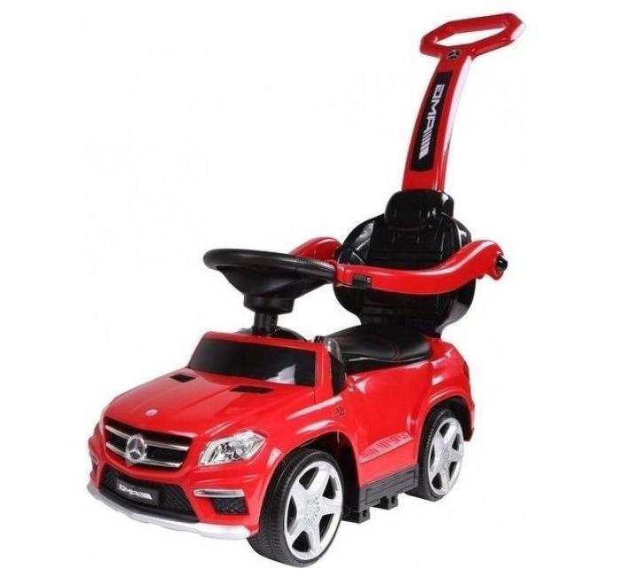 Каталка RiverToys Mercedes-Benz GL63 A888AA-HMercedes-Benz GL63 A888AA-HКаталка RiverToys Mercedes-Benz GL63 A888AA-H - это очень популярная и любимая многими детьми игрушка. Приводится в движение самим ребенком, путем отталкиваний ножками от пола.  С раннего возраста все детки мечтают о своём первом автомобиле! Толокар RiverToys Mercedes-Benz GL63 A888AA-H - лучший подарок для малыша! Подходит для детей, которые уже научились сидеть самостоятельно. Широкие колёса и сиденье со спинкой обеспечивают комфорт, устойчивость и безопасность во время поездки. Машинка лёгкая и простая в управлении.  Особенности: Музыкальный руль: звук клаксона/мелодии заводские Световые эффекты: подсветка панели приборов, светятся передние и задние фары Медиа-панель: USB-вход, SD-вход, mp3-вход  Включение: кнопка Колеса: каучуковые Дополнительная подсветка колес Боковые фиксаторы безопасности Выдвижные подножки Нижняя часть трансформируется в качалку Место для хранения Сиденье: кожа Аккумулятор: 6V/4,5А Максимальная нагрузка: 20 кг Съемная ручка для поддержки и управления машинкой Отдельная съемная спинка<br>