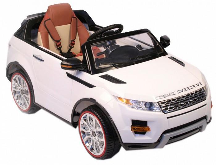 Электромобиль RiverToys Range Rover A111AA VIPRange Rover A111AA VIPЭлектромобиль RiverToys Range Rover A111AA VIP сочетает в себе все аспекты по настоящему надежного и удивительного детского транспорта. Мягкие резиновые шины, металлический каркас, открывающиеся двери и многое другое.  Особенности: Световые и звуковые эффекты.  Подсветка панели приборов, диодные огни фар.  Плавный ход.  Амортизаторы. Пульт управления: индивидуальный (настраивается по Bluetooh) Колеса: резиновые низкопрофильные (дополнительная подсветка, которую, по желанию, можно отключить - рычаг под рулем) Открываются двери.  Заводится с кнопки.  Коробка автомат.  Обратный ход руля. Скорость: 2 скорости вперед, одна назад.   Сидение: мягкое кожаное,  регулировка вперед/назад. 5-и точечный ремень безопасности. USB-вход, вход для MP3, SD-вход Возможность перемещения по принципу Чемодана (выдвигается ручка и колесики) Аккумулятор: 2х6V/7А Редуктор: 2х35W<br>