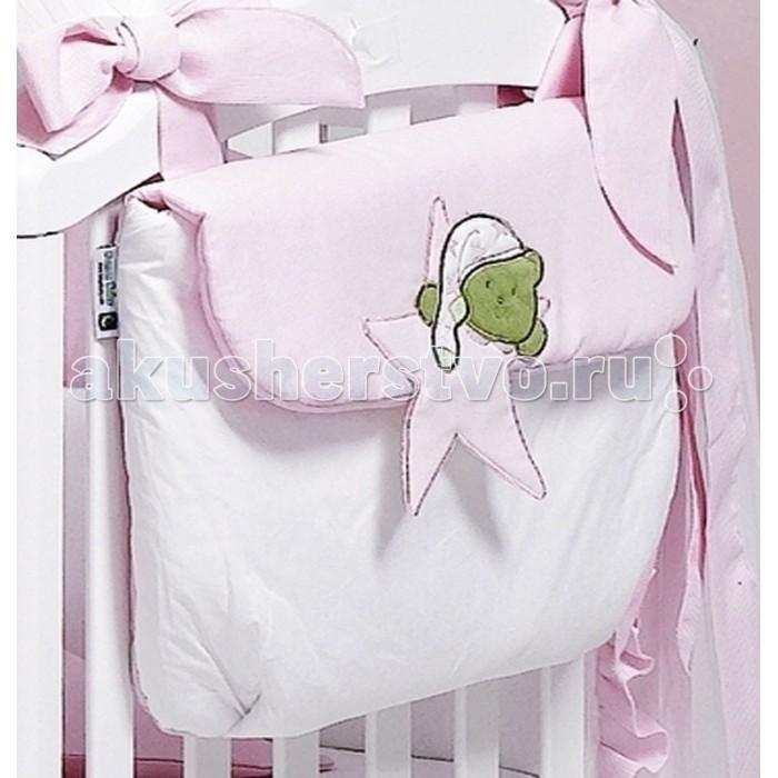 Roman Baby Сумка на кроватку Stella StellinaСумка на кроватку Stella StellinaУдобная сумка на кроватку Roman Baby Stella Stellina с оригинальной вышивкой - куда можно положить игрушки и детские принадлежности  100% хлопок<br>