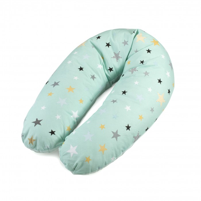 Подушки для беременных ROXY Подушка для беременных и кормления (холлофайбер + шарики антистресс) лифчик для сна для беременных
