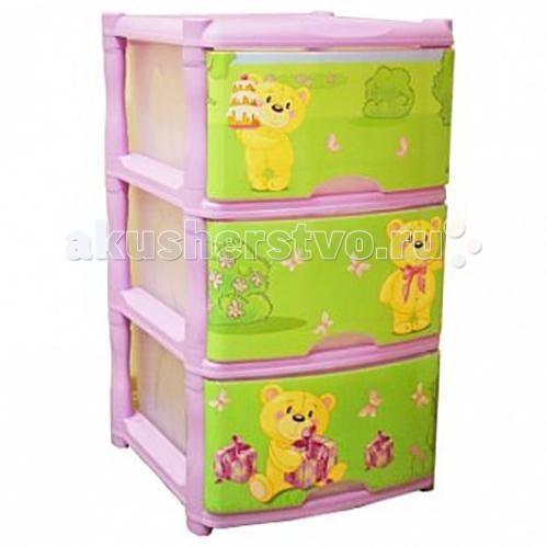 Ящики для игрушек Russia Комод детский 3 ящика
