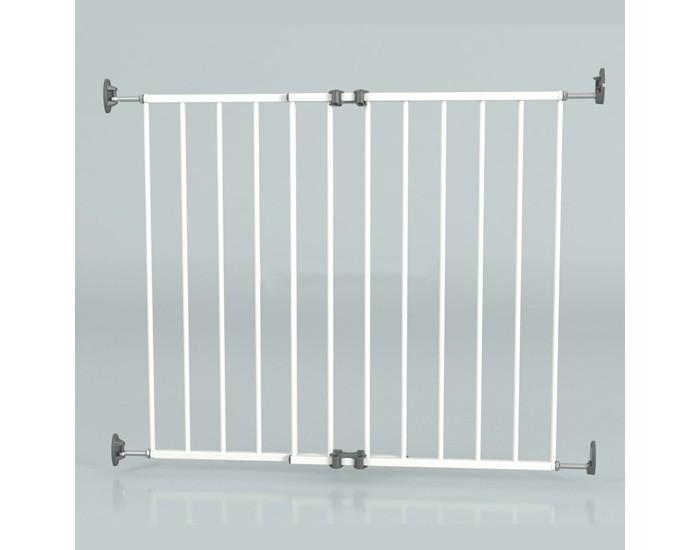 Safe&amp;Care Ворота 64-99.5 смВорота 64-99.5 смРасширяющиеся ворота Safe & Care  выполнены из металла.  Минимальная ширина проема для установки ворот - 64 см. Максимальная ширина ворот - 99,4 см.   Выпускаются в трех цветах: белый, черный и серый.   Особенности:   Неправильное крепление или расположение данного защитного ограждения может быть опасным. * Не использовать защитное ограждение в случае повреждения или отсутствия каких - либо составных элементов.   Защитное ограждение не должно устанавливаться на окнах.   Прекратить пользоваться ограждением, если ребёнок способен на него забираться.  При установке изделия согласно приведённым указаниям, между двумя чистыми и прочными в структурном отношении поверхностями, данная калитка соответствует требованиям: BS EN 1930:2000  Информация об изделии   Перекрывает проёмы размером от 64 до 99,4 см   Убедиться в надёжности и прочности стены, дверной рамы или лестничных стоек, к которым будет крепиться калитка, а также в отсутствии на них загрязнений.  Сохранять настоящую инструкцию и гаечный ключ для последующего использования в качестве справочного пособия и для работы.<br>