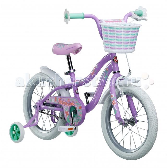 Велосипед двухколесный Schwinn детский Jasmine 16детский Jasmine 16Schwinn Велосипед детский Jasmine 16, 1 скорость, колёса 16. Фиолетово-белое волшебное сочетание цветов Schwinn Jasmine понравится Вашей принцессе с первого взгляда! Этот велосипед - это отличный спутник зарождения любви к спорту и прогулкам на свежем воздухе. Седло и руль регулируются по высоте, и велосипед может расти вместе с Вашим ребёнком. Два вида тормоза, ручной и ножной, позволяют ребёнку постепенно переходить на взрослые стандарты. Цветочки-ограничители на концах руля – это не просто декоративный элемент, но и функциональная вещь, ведь ручки ребенка не соскочат при неловком движении. Schwinn® SmartStart - новая концепция в разработке детских велосипедов, учиться кататься стало проще и веселее!  Особенности: • Рама Schwinn Smart Start • Надёжные ободные и ножные тормоза • Регулировка высоты седла без инструментов • Регулировка руля по высоте и наклону • Полноразмерная защита цепи • Дополнительные колёса • Ограничители на концах руля • Корзинка для кукол на руле • Колёса 16 • Велосипед для детей 4-6 лет • Для роста 100-115см<br>