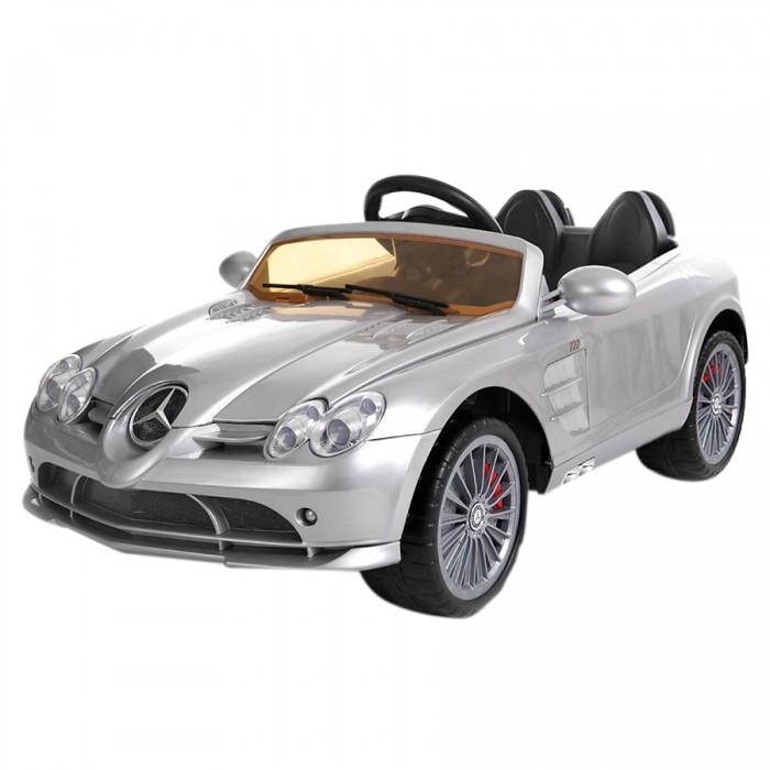 Электромобиль Shine Ring Mercedes SLR MclarenMercedes SLR MclarenЭлектромобиль Shine Ring Mercedes SLR Mclaren сделан по лицензии Mercedes-Benz. Он максимально похож на настоящую машинку. Малыши будут в восторге от такого электромобиля.   Особенности: Корпус из высококачественного ударопрочного пластика Колеса — пластик с резиновой полосой Одно посадочное место Ремень безопасности 2 мотор-редуктора, мощность каждого — 30W 2 открывающиеся двери Светодиодные передние и задние фары Педаль газа 2 скорости вперед, 2 скорости назад Разъем и провод для подключения МР3-устройств Регулировка громкости Пульт ДУ (27 MHZ), 2 батарейки типа АА Запуск двигателя ключом Звуковые эффекты Время зарядки — 8–10 часов Время работы от аккумулятора — 40–60 минут Одна аккумуляторная батарея 12V, 7A/h<br>