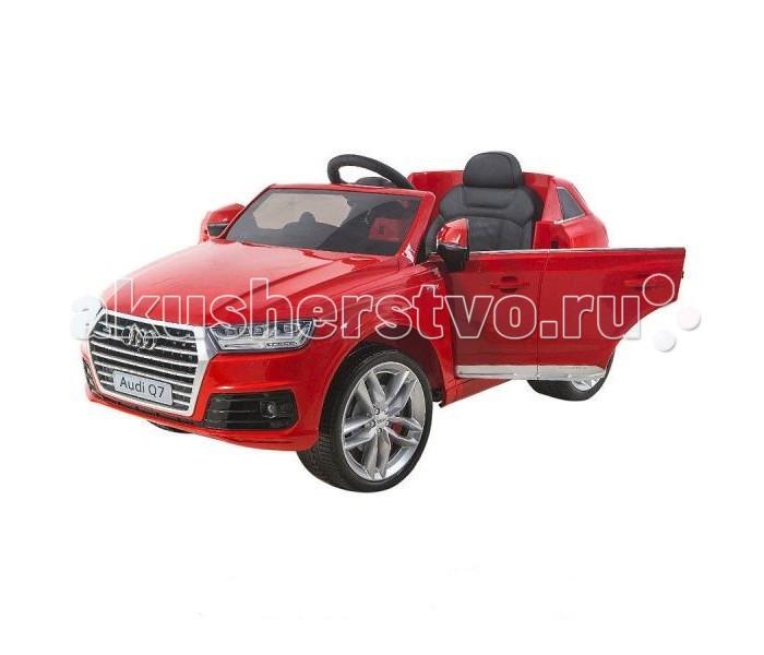 Электромобиль Shine Ring Audi Q7 12V/10AhAudi Q7 12V/10AhShine Ring Электромобиль Audi Q7 12V/10Ah SR159  Электромобиль Audi Q7 выполнен в лучших традициях джипов для детей. Это копия, напоминающая реалистичный автомобиль, изготовленный по лицензии немецкого автоконцерна. Лучшие ходовые качества, возможность дистанционного управления и мультимедийное сопровождение поездки. Ваш малыш будет вовлечён в мир современного автопрома, интересного катания и времяпрепровождения на свежем воздухе.   Используйте Audi Q7 везде где хотите. Этому джипу не страшны бездорожье, ухабы, газоны, грунт и даже гравий. Просторный салон, удобное кресло, обеспечат даже рослым водителям непревзойдённый комфорт и удобство, позволяя кататься долгие часы напролёт.  Технические характеристики: Посадочных мест: 1. Колёса: мягкие (EVA) Амортизаторы: есть, на переднюю и заднюю ось. Сиденье: пластмассовое, с цельной спинкой и сдвоенным подголовником. Ремень безопасности: поясной. Двери: нет. Багажник: нет. Кол-во моторов: 2, мощностью по 35 ватт. Привод: задний. Аккумулятор: 12V7Ah*1. Индикатор заряда АКБ: нет.  Скорости движения вперёд: две, от 3 до 7 км/ч. + плавный разгон. Скорость движения назад: одна, до 3 км/ч. Способ переключения скоростей: рычаг коробки передач на приборной панели. Пульт Д/У: индивидуальный, функционирует через Bluetooth интерфейс на расстоянии свыше 50 метров. Аудио магнитола: есть, цифровая, оснащена FM радио и USB/SD/Aux разъёмами.  Воспроизведение музыки: через встроенные динамики. Свет фар: передний и задний + диодные огни + подсветка приборной панели. Время беспрерывной работы: до 2 часов. Время заряда батарей: от 8 до 10 часов. Максимальная нагрузка: 30 кг.  Размер электромобиля: 130 x 65 x 56 см<br>