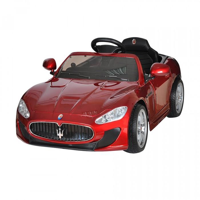 Электромобиль Shine Ring Maserati Quattroporte 12V/7AhMaserati Quattroporte 12V/7AhShine Ring Электромобиль Maserati Quattroporte 12V/7Ah SR6388  Детский лицензионный электромобиль на аккумуляторе Maserati - шикарный седан, выполненный по лицензии официальной компании. В точности повторяющий линии кузова и брендовый почерк настоящего авто. Выдерживает нагрузку до 40 кг.   Электромобиль для детей Maserati (Мазерати) имеет встроенный MP3 плеер с разъемом под внешний носитель и AUX. Головная оптика и задние фонари светятся, имеется эффектная подсветка днища.  Двери детского автомобиля Maserati открываются и оборудованы замками. Благодаря этому, малыш без труда разместится в салоне.  Электромобиль имеет два мощных двигателя установленных на задней оси, которые обеспечивают плавный старт спорткара. Корпус выполнен из прочного пластика. Подвеска оснащена амортизаторами, колесами с мягкими резиновыми покрышками eva и хромированными дисками. Что обеспечивает комфортное передвижение.  Отдельного внимания заслуживает пульт дистанционного управления, он является неотъемлемой частью электромобиля и обеспечит безопасность передвижения вашего малыша. Maserati оснащен bluetooth пультом с родительским контролем. Пока ваш малыш еще мал и не в силах управлять своим автомобилем, взять управление на себя могут родители. В ваших руках будет не только стандартный набор органов управления, но и возможность регулировки скорости и полной остановки авто. По мере взросления юного водителя можно постепенно передавать ему управление электромобилем, но с помощью функции родительского контроля вы всегда сможете скорректировать траекторию движения, снизить скорость или полностью остановить внедорожник даже если в этот момент им управляет ваш малыш.  Особенности: Возрастная группа: 1-6 лет Максимальный вес ребенка: 40 кг Количество мест: 1 Количество двигателей: 2 Максимальная скорость: 7 км/ч Материал колес: Резина Амортизаторы: Есть Тормозная система: Торможение двигателем Количество скоростей: 2