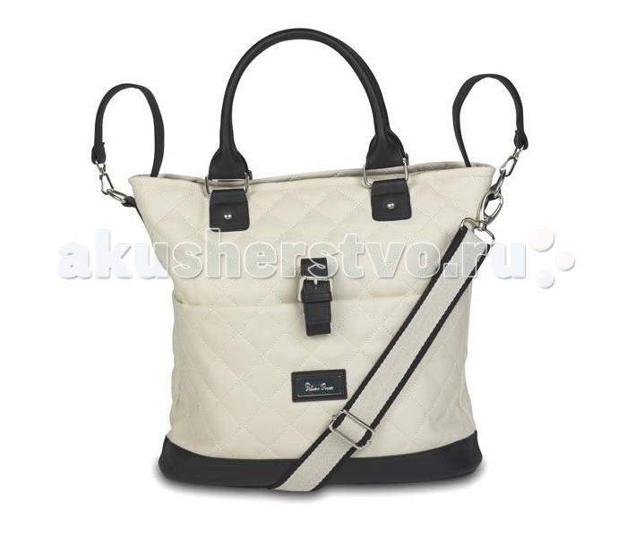 Silver Cross Сумка для мамы Sleepover EleganceСумка для мамы Sleepover EleganceЭлегантная сумка для мамы Sleepover Elegance из высококачественной стеганой искусственной кожи и металлическими элементами.  Особенности: - подходит для колясок Silver Cross Sleepover Elegance - стильный дизайн сумки удачно сочетается с ее функциональными достоинствами, что очень важно для современной молодой мамы - термочехол для бутылочек - мягкий матрасик для пеленания - съемный, регулируемый ремень для переноски - большое основное отделение - внешний карман с застежкой - внутренний карман на молнии - петли для легкого крепления к детским коляскам  Размеры: Длина: 35 см | Высота: 34см | Ширина: 15 см Вес: 750 г<br>