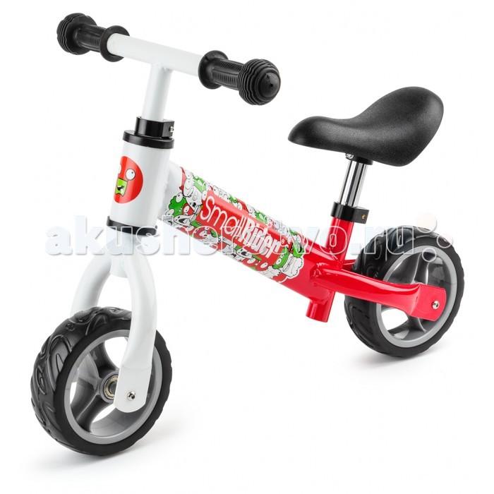 """Беговел Small Rider JuniorJuniorБеговел Small Rider Junior создан специально для малышей!   Особенности: Кататься на беговельчике можно и дома, оттачивая мастерство на паркете, и, конечно же, на улице, гоняя по детской площадке.  Благодаря колесам ПВХ этот маленький транспорт при качении по квартире не будет издавать шума как при пластиковых колесах, но при этом колесики не нужно подкачивать.  Беговел для самых маленьких – расстояние от пола до сиденья всего 26 см, что позволит легко доставать ножками до пола.  Первый беговел, который имеет специальные маленькие колеса (6 дюймов) с эффектными дисками, спроектированные специльно для малышей.  Колесаи сделаны из ПВХ (не пластика), имеют интересный протектор и отлично катятся, не шумя, как по дому, так и по улице.  Сиденье имеет тот же большой и удобный размер, что и у """"взрослого"""" беговела. Оно мягкое и эргономичной формы, регулируемое по высоте с помощью ключа.  Руль имеет специальную безопасную ровную форму и удобные резиновые рукоятки, которые удобно обхватить детской рукой. Он также регулируется по высоте с помощью ключа.  Беговел отличается стильным, европейским дизайном.  В комплекте идет набор наклеек, и Ваш ребенок сам сможет выбрать рожицы, которую захочет наклеить на переднюю часть рамы.  Беговельчик очень легкий – он весит всего 2,4 кг. и легко поместится в багажник машины, корзинку коляски или даже сумку!<br>"""