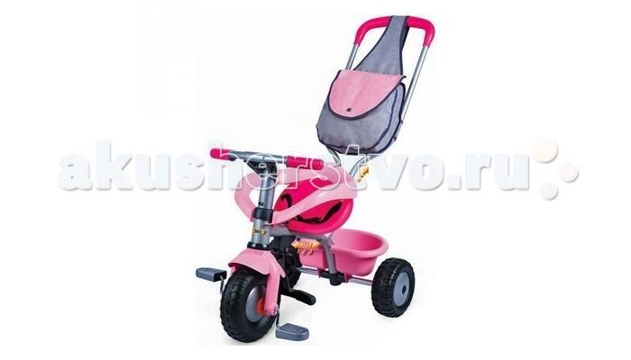 Велосипед трехколесный Smoby с сумкой 444141 Iс сумкой 444141 ISTRONG>Велосипед трехколесный Smoby с сумкой - это прочное и безопасное транспортное средство, которое может с лёгкостью заменить прогулочную коляску, а потом трансформироваться в великолепный трёхколёсный велосипед, адаптированный под рост малыша. Теперь малыш будет чувствовать удобство и комфорт в возрасте от восьми месяцев до трёх лет.   Особенности: Когда велосипед будет использоваться в виде удобной прогулочной коляски, то педали устанавливаются посередине прочной рамы и будут служить как подложкой для ног.  Когда малыш подрастёт, то педали можно установить на колёса, и малыш сможет их катить и самостоятельно ехать. Также велосипед оборудован ремнями безопасности и съёмными дугами. Вместе с велосипедом в комплект входит удобная вместительная сумка, которая закрепляется на ручке, а также удобный багажник для хранения любимых игрушек, которые могут пригодиться для прогулки.   Размеры: 95х50х89 см<br>