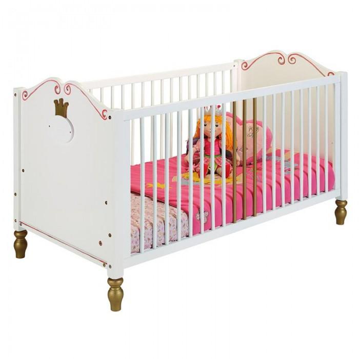 Детская кроватка Spiegelburg Prinzessin 70х140 смPrinzessin 70х140 смДетская кроватка Spiegelburg Prinzessin 70x140 см   Детская кроватка Prinzessin будет прекрасно гармонировать с другой мебелью Prinzessin Lilifee.   Особенности: крепкая надежная конструкция, оригинальный дизайн, красивое изголовье, съемные боковины, легко трансформируется в диванчик, не имеет острых углов, идеально вписывается в интерьер современной детской комнаты, Спальное место: 70 х 140 см<br>