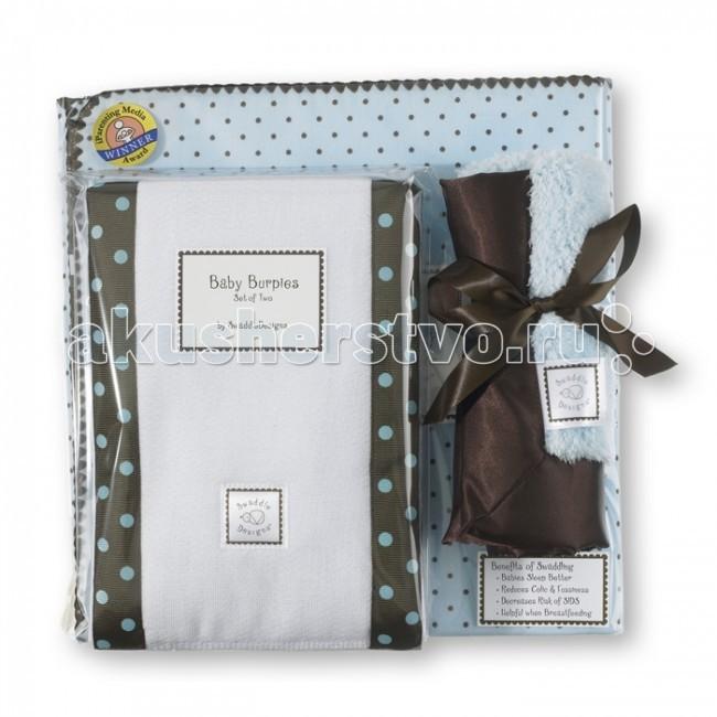 Комплект на выписку SwaddleDesigns для новорожденного Gift Setдля новорожденного Gift SetПодарочный набор для новорожденного Gift Set в красивой фирменной коробке SwaddleDesigns, состоит:  1. Пеленка премиум фланель серии Ultimate Receiving Blanket SwaddleDesigns. Пеленка выполнена из очень мягкой натуральной ткани – хлопковой фланели, завоевавшей доверие родителей во всем мире. Большой размер пеленки 110x110 см. идеально подходит для пеленания до 3-х месяцев и новорожденных с весом более 4 кг. Легко пеленать, пошаговая инструкция техники пеленания пришита к каждой пеленке. Многофункциональная и универсальная: используйте для пеленания, как легкое одеяло, полотенце после купания, солнечный козырек, накидку для кормления грудью, при болях в животике. Сделано в США  2. Слюнявчики-полотенчики Baby Burpies SwaddleDesigns 2 шт. Часто у крохи после кормления в желудочке не удерживается часть молочка, слюнявчики - полотенчики Baby Burpies помогут маме и малышу не испачкаться. Слюнявчики - полотенчики Baby Burpies стильные и функциональные предметы первой необходимости на каждый день. Двойной слой хлопка с абсорбирующим центром легко впитывает, с ними удобно ухаживать за малышом. Размер 36x46 см в развернутом виде.  3. SwaddleDesigns Baby Lovie - обнимашка, сосуночек, этот маленький платочек обладает магическим действием на малышей. Baby Lovie очень мягкий платочек с рисунком и атласным краем, идеально подходящий по размеру для маленьких рук. Структура ткани такова, что маленькие пальчики любят трогать и исследовать ее. Размер: 35 на 35 см.  Подарочные наборы для новорожденных SwaddleDesigns идеальны для молодых родителей, ими будут пользоваться в течение многих лет.<br>