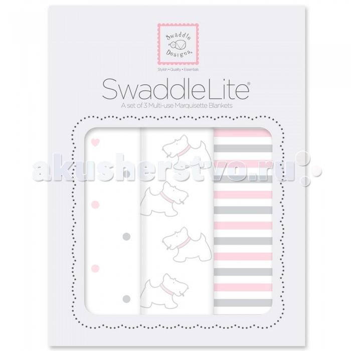 Пеленка SwaddleDesigns SwaddleLite комплект 3 шт.SwaddleLite комплект 3 шт.Комплект пеленок SwaddleDesigns SwaddleLite для новорожденного в красивой фирменной упаковке, состоит из трех легких пеленок серии Marquisette SwaddlingBlanket.  Особенности: Легкие, дышащие из мягкого хлопка маркизет. Эти волшебные пеленки действительно помогают новорожденным спать сном младенца. Замечательный вариант для теплого времени года и дома. Легко следовать инструкции пеленания пришитой к пеленке. Оптимальный, большой размер пеленки 120х120 сантиметров! Ваш ребенок не вырастет быстро из пеленки. Многофункциональные и универсальные. Используйте для пеленания, как легкое одеяло, солнечный козырек, накидку для кормления грудью, при болях в животике. Эту пеленку вы будете использовать на протяжении нескольких лет и не пожалеете о покупке. Дизайн разработан медсестрой Линетт Дамир. Победитель множества наград. Лауреат премии Великий дар (Award Winner Great Gift). Рекомендованы педиатрами и мамами во всем мире. Состав 100% хлопок маркизет, высшего качества<br>