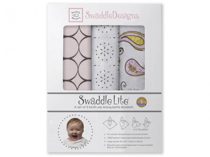 Пеленка SwaddleDesigns SwaddleLite Modern комплект 3 шт.SwaddleLite Modern комплект 3 шт.Комплект пеленок SwaddleDesigns SwaddleLite Modern для новорожденного в красивой фирменной упаковке, состоит из трех легких пеленок серии Marquisette SwaddlingBlanket.  Особенности: Легкие, дышащие из мягкого хлопка маркизет. Эти волшебные пеленки действительно помогают новорожденным спать сном младенца. Замечательный вариант для теплого времени года и дома. Легко следовать инструкции пеленания пришитой к пеленке. Оптимальный, большой размер пеленки 120*120 сантиметров! Ваш ребенок не вырастет быстро из пеленки. Многофункциональные и универсальные. Используйте для пеленания, как легкое одеяло, солнечный козырек, накидку для кормления грудью, при болях в животике. Эту пеленку вы будете использовать на протяжении нескольких лет и не пожалеете о покупке. Дизайн разработан медсестрой Линетт Дамир. Победитель множества наград. Лауреат премии Великий дар (Award Winner Great Gift). Рекомендованы педиатрами и мамами во всем мире. Состав 100% хлопок маркизет, высшего качества<br>