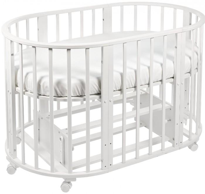 Кроватка-трансформер Sweet Baby Delizia с маятникомDelizia с маятникомSweet Baby Кроватка Delizia с маятником - это многофункциональная кроватка-трансформер, которая может использоваться по нескольким назначениям. Кроватка с маятником способна превращаться из люльки в кроватку, из кроватку в небольшой диванчик, из диванчика в стол с двумя креслами. Данная модель оснащена маятником продольного качания.  Варианты сборки: Круглая люлька (спальное место: диаметр 75см) Овальная детская кровать (спальное место: 125х75см) Овальный диван. Манеж круглый или овальный. Стул и столик.<br>