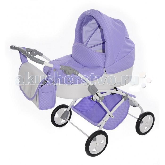 Коляска для куклы Tako Laret MiniLaret MiniЭто стильная, устойчивая коляска станет любимой игрушкой для Вашей малышки!  Коляска для кукол выполнена в стиле настоящей коляски - это очень модная модель!  Козырек и смотровое окошко в капюшоне коляски для кукол Mini Laret (Tako).  Резиновые колеса.  Теперь любимая куколка сможет ездить на прогулки в стильной и красочной коляске со своей хозяйкой!  Коляска прекрасно подходит для игр как на улице, так и дома.  В комплекте: накидка на ножки и сумочка для маленькой мамы.  Ручка регулируется по высоте.  Размеры: До ручки в самом низком положении — 38см До ручки в самом высоком положении — 77см Диаметр колес: 16 см Вес: 6 кг.  Материалы: металл, ткань, резина.<br>