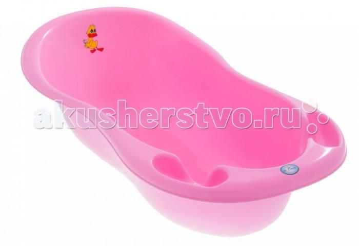 Детские ванночки Tega Baby Ванна детская Balbinka Утенок со сливом 102 см maltex детская ванна со сливом и антисокользящим ковриком hello kitty maltex 100 см