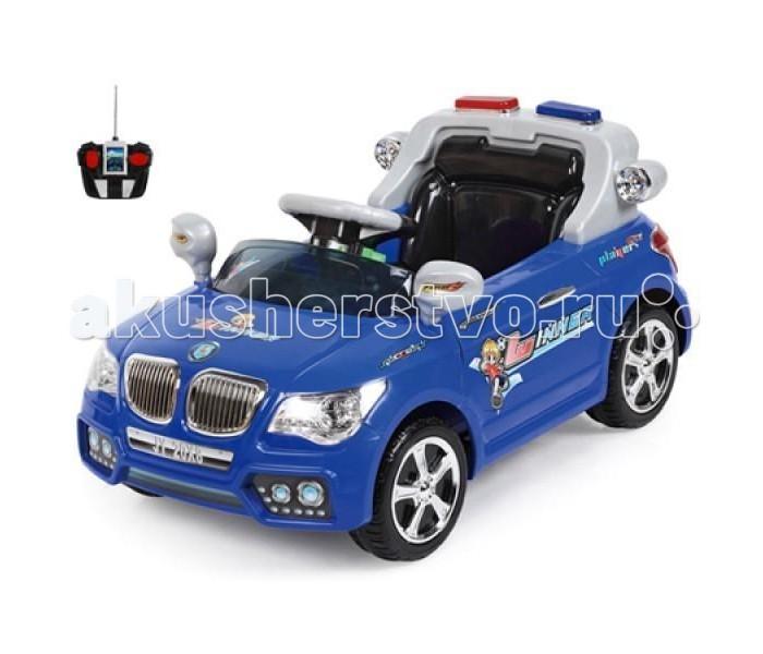 Электромобиль TjaGo BMW PoliceBMW PoliceЭлектромобиль TjaGo BMW Police – удачная покупка для любого малыша в возрасте от 3 до 6 лет. На нем можно ездить по твердым и ровным площадкам и тротуарам.  Особенности: 1 посадочное место Аккумулятор 6 вольт, 4.5 A/h  Время работы 1 заряда батареи 1.5 - 2.5 часа Мощность мотора 25 ватт Одна скорость вперед, одна назад 3 км/ч Нажатие на педаль приводит машину в движение, отпускание - торможение. Родительский пульт радиоуправления: вперед, назад, вправо, влево на расстоянии 20 метров Ремни безопасности Звуковые и световые эффекты, сигнал, свет фар Зеркала заднего вида Колеса из прочного пластика с резиновым уплотнителем шириной 3 см, проходящим по окружности колеса для лучшего сцепления с дорогой<br>
