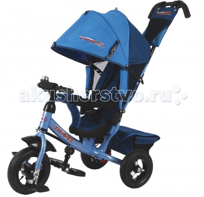 Велосипед трехколесный Travel TTA2 (колеса надувные/звонок)TTA2 (колеса надувные/звонок)Велосипед трехколесный Travel TTA2 (колеса надувные/звонок) обеспечит комфорт и удовольствие для вашего малыша во время прогулки.  Такой универсальный детский транспорт позволяет ребенку как ездить самостоятельно, так и кататься под контролем взрослого. При самостоятельном передвижении ребенок будет приводить велосипед в движение при помощи педалей и управлять им рулем. Если же велосипед выполняет функцию прогулочной коляски, взрослый сможет толкать его перед собой при помощи специальной ручки, которая также служит и для управления.  Особенности: надувные колеса (переднее 10, заднее 8); высокая наклонная спинка: 3 положения; большой съемный капюшон: 3 секции; ручка управления для родителей; стальная тяга; складные подножки; трусики-безопасности; раземная дуга; тормозной механизм на задних колесах; корзина для игрушек; сумочка и бутылочка на ручке; на руле звонок.<br>