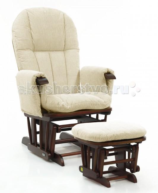 Кресло для мамы Tutti Bambini Daisy GC35Daisy GC35Tutti Bambini Daisy GC35 - кресло для кормления, которое состоит из двух элементов: мягкое кресло-качалка и подставка для ног.  Для комфортного кормления кресло и подставка для ног изготовлены с использованием плавного механизма продольного качения.   Для удобства и дополнительного комфорта кресло качалка оборудовано мягкими подлокотниками с двумя боковыми карманами, куда можно положить то, что нужно иметь под рукой: телефон или пульт от телевизора.  Спинка кресла откидывается назад в трех положениях, благодаря чему всегда можно подобрать именно то положение, которое для вас будет наиболее удобным.  Кресло для кормления Tutti Bambini Daisy GC35 с ровным и спокойным качением - идеальное место для того чтобы спокойно посидеть и отдохнуть от маминых забот или покормить ребенка. Удобная форма кресла с мягкими подушками позволяет принять комфортное положение при кормлении, и помогает держать ребенка спокойным.  Отличается от кресла Tutti Bambini Daisy GC35 материалом сиденья и деревянными элементами.   Особенности: · Мягкие подушки · Стульчик для ног · Мягкие подлокотники с 2 карманами по бокам · Подушки сухой чистки · Прочное деревянное основание стульчика и кресла · Эффект синхронного покачивания кресла и стульчика · Спинку кресла можно откинуть и расположить в одной из 3 позиций · Размеры кресла (д х ш х в): 69 х 74 х 104 · Размеры стульчика (д х ш х в): 38 х 54 х 41 · Максимальная нагрузка 100 кг · Выполнен из березы · Ткань на подушках подобная вельвету<br>