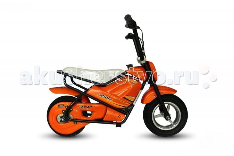 Электромобиль TVL Мопед MiniМопед MiniЭлектромопед TVL Mini новое средство передвижения и развлечения для детей от 6 лет.   Особенности: Привод, мощный двигатель, ручку газа и развивает скорость до 21 км/ч. Надежный аккумулятор позволяет проехать расстояние до 13 км, на зарядку тратиться 6-8 часов.  За безопасность отвечает механический дисковой тормоз (ручка тормоза расположена слева), тормозной путь при максимально скорости составит до 4 метров, удобное сидение, нескользящие подножки.  Выдерживает до 45 кг. Имеется опорная подножка. Аккумулятор Свинцово-кислотная батарея 7V/10Ah х 2шт Максимальная скорость: 21 км/ч Двигатель: 250W/24V, щёточный Контроллер: Воздушное охлаждение, корпус водонепроницаемый Система управления: Ручка газа Колеса: 110/50-6.5<br>