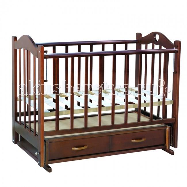 Детские кроватки Ведрусс Лана №3 поперечный маятник ведрусс лана 2 ящик колеса качалка сердечко вишня