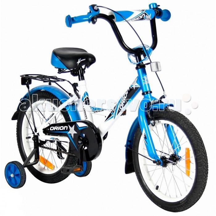 Велосипед двухколесный Velolider Lider Orion 16Lider Orion 16Велосипед двухколесный Velolider Lider Orion 16 отвечает самым высоким стандартам качества.  Особенности: Все модели сделаны эксклюзивно для бренда Velolider и для российского покупателя. Все велосипеды Velolider проходят неоднократную проверку качества в процессе изготовления и заводской сборке, поэтому при соблюдении всех правил эксплуатации и обслуживания, велосипед прослужит Вам длительный срок. Очень высокие эргономичные рули с высококачественными выносами руля. Передний светоотражатель над рулевой колонкой, задний - под сиденьем.  На спицах переднего и заднего колес - большие светоотражатели. Безопасность: 10 баллов.  Диаметр колес: 16.  Рама: сталь.  Вилка передняя: сталь жесткая. Втулка передняя: SHUNFENG.  Втулка задняя: SHUNFENG.  Тормоза: передний: ручной, задний: ножной.  Покрышки: YIDA 16х2,125. Крылья: сталь.  Педали: пластик.  Широкое седло с поддерживающей ручкой сзади.   Количество скоростей: 1.  Рулевая колонка: сталь. Шатуны: квадрат, сталь.  Обода: сталь.  Пластиковая защита цепи. Удобные резиновые ручки с ограничителем на концах - рука ребенка будет защищена от ударов.  Сиденье заслуживает особого внимания, потому что наши инженеры учли анатомические потребности детей и пожелания их родителей. Сиденье VELOLIDER очень широкое, с небольшим бортиком сзади и 2-мя подседельными амортизаторами. Эргономика: 10 баллов.  Во всех моделях - подседельные эксцентрики- это полноценные прочные стальные эксцентрики. Для того, чтобы изменить высоту сиденья, инструменты не нужны. Это очень удобно.  Идеальный классический багажник с задним светоотражателем. Ваш ребенок будет пользоваться им постоянно.  Очень надежные тренировочные боковые колеса.  Очень высокий эргономичный руль с высококачественным выносом руля. Все продумано до мелочей. Стальные заднее и переднее крыло с резиновыми брызговиками.  Передний светоотражатель - на руле, задний- под сиденьем. На спицах переднего и заднего колес - большие све