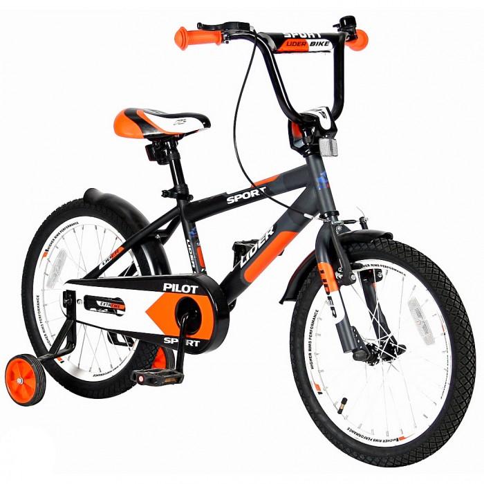 Велосипед двухколесный Velolider Lider Pilot 18Lider Pilot 18Велосипед двухколесный Velolider Lider Pilot 18 отвечает самым высоким стандартам качества.  Особенности: Все модели сделаны эксклюзивно для бренда Velolider и для российского покупателя. Все велосипеды Velolider проходят неоднократную проверку качества в процессе изготовления и заводской сборке, поэтому при соблюдении всех правил эксплуатации и обслуживания, велосипед прослужит Вам длительный срок. Уникальность этого велосипеда в том, что он имеет революционную систему торможения быстрый тормоз.  Разработано во Франции и создан специально для детей, которым теперь не придется тянуться и с трудом нажимать на тугой тормоз.   Удобные резиновые ручки с ограничителем на концах - рука ребенка будет защищена от ударов.  Сиденье заслуживает особого внимания, потому что наши инженеры учли анатомические потребности детей и пожелания их родителей. Сиденье очень широкое и с небольшим бортиком сзади. Эргономика- 10 баллов.  Во всех моделях - подседельные эксцентрики - это полноценные прочные стальные эксцентрики. Для того, чтобы изменить высоту сиденья, инструменты не нужны.  Очень высокие эргономичные рули с высококачественными выносами руля. Передний светоотражатель над рулевой колонкой, задний - под сиденьем.  На спицах переднего и заднего колес - большие светоотражатели. Безопасность: 10 баллов.  Диаметр колес: 18.  Рама: сталь.  Вилка передняя: сталь жесткая. Втулка передняя: SHUNFENG.  Втулка задняя: SHUNFENG Тормоза: передний: ручной, задний: ножной.  Покрышки: YIDA 18х2,125. Крылья: сталь.  Педали: пластик.  Широкое седло.  Подножка: сталь.  Количество скоростей: 1.  Рулевая колонка: сталь. Шатуны: квадрат, сталь.  Обода: сталь.  Стальная защита цепи.  Параметры: Рекомендуется для детей от 4 лет, весом не более 50 кг, при росте 114-122 см.  Регулировка седла от 58 до 62 см  Размеры: 120х85х40 см.<br>