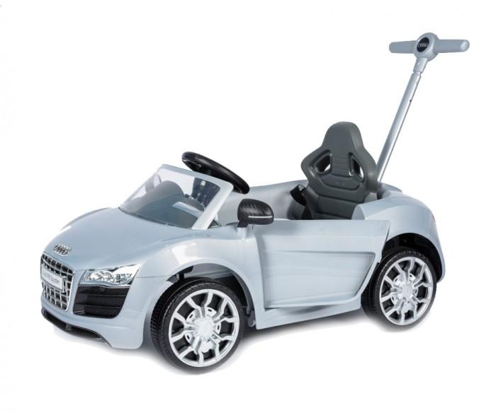 Каталка Vip Toys Audi ZW460 с ручкойAudi ZW460 с ручкойЯркая качественная каталка сделана в стиле авто с музыкальным рулем. Удобная спинка. Вращаемый руль регулирует направление движения машинки поворотом передних колес. Удобное эргономичное сидение. Детские каталки оборудованы телескопической ручкой для мамы, с помощью которой она может управлять передними колесами каталки и рулить в процессе передвижения.  Под ножками ребенка есть выдвижной пол, который выдвигается, что бы ребенок мог поставить ножки в то время, когда мама управляет каталкой. Пол можно задвинуть под сидения и тогда ребенок может самостоятельно ножками передвигать транспорт. На руле каталки есть музыкальные кнопки и сигнал. Ремни безопасности имеются. Открывающаяся дверь.  Стиль и дизайн гоночной техники придаст игре реальности и добавит незабываемых впечатлений от игры и езды!  Машинка отлично подойдет для игр дома и на улице. Теперь катание малыша станет неповторимым увлекательным путешествием!  Максимальная нагрузка - 25 кг. Рекомендуется для детей от 12 месяцев.  Размер каталки (дхшхв): 85х48х63 см Вес каталки:  8 кг<br>
