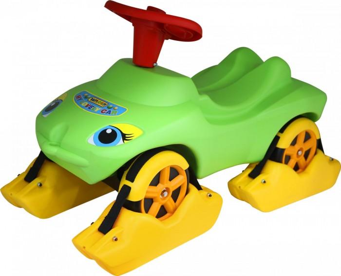 Каталка Wader Мой любимый автомобиль с полозьями на зимуМой любимый автомобиль с полозьями на зимуWader Мой любимый автомобиль с полозьями на зиму  Пластмассовый всепогодный автомобиль  Зимой на колеса этого автомобиля надеваются полозья, и он может использоваться как санки  Можно возить ребенка на веревочке, или он может ездить на автомобиле, отталкиваясь ногами от земли  В руль встроен звуковой сигнал   Возраст: от 1 года  Нагрузка: до 25 кг  Размер изделия: 74 х 35 х 41 см<br>