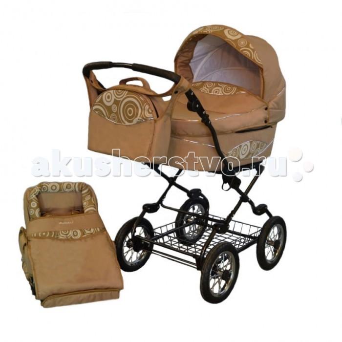 Коляска Wampol Venezia 2 в 1Venezia 2 в 1Коляска Wampol Venezia 2 в 1 -  это элегантная классическая коляска для новорожденных, в которой малыш будет себя чувствовать защищено и комфортно.   Модель сочетает в себе люльку (для  новорожденных детей) и прогулочный блок (для детей постарше от 5-6 месяцев). Выполнена из качественных материалов. Внутренняя обивка из натурального хлопка. Ткань Extreme Edition, используемая при  изготовлении коляски водоотталкивающая, легко чистящаяся.   Конструкция коляски представлена в серебряном и черном цвете. Надежный механизм фиксации модулей и простота в использовании позволяет маме с легкостью сменить один модуль на другой.  Люлька. Дно люльки жесткое обеспечивает формирование правильной осанки у ребенка. Размеры спального места просторные. Складывающийся капюшон и высокий бампер на люльку защитят малыша от холодов, ветра, пыли и солнца. Сбоку люльки есть карман для мелочи.   Прогулочный блок. Спинка сидения регулируется. Вы сможете выбрать наиболее удобную позицию для малыша. Подножка регулируется до горизонтального положения, тем самым увеличивая длину спального места. Пятиточечные ремни безопасности. Козырек от солнца и ветра. Коляска Wampol VENEZIA 2 в 1 имеет прочную раму. Складывается книжкой и помещается в любой багажник автомобиля. Ручка коляски регулируется по высоте. Автоматическая блокировка механизма регулировки подножки.<br>