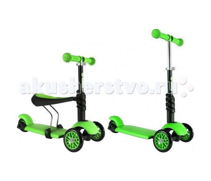 Трехколесный самокат Y-Bike Glider SeatGlider SeatY-Bike Glider Seat 3 в 1 - это самокат-каталка со съемным сиденьем! Почему эта модель называется 3 в 1? Потому что, 1 стадия: это каталка от 12 месяцев, 2 стадия: это самокат от 2 лет с ручкой на нижнем уровне, 3 стадия: от 4 лет с самым высоким уровнем руля.  Уникальные отличия от аналогов: сиденье не весит в воздухе, а прочно фиксируется на руле и на платформе-это безопасно и очень удобно.  Модель с сиденьем и Т-образной ручкой рекомендуется детям от 12 месяцев до 5 лет. По мере того как растет малыш, Вы можете убрать сиденье, выдвинуть ручку выше и подстроить ее высоту под рост малыша. Как только ребенок почувствует себя более уверенно на ногах, самокат можно использовать как обычный Glider Mini,регулируя высоту ручки на любую высоту по мере того, как растет малыш.  По мере вырастания ребенка Glider самокат 3 в 1 может легко трансформироваться в три различные вариации с различным уровнем высоты руля. Максимальная высота от пола — 70 см, минимальная — 47 см.  Характеристика: алюминиевая рама - очень легкая и эргономичная создана специально для самых маленьких детей полиуретановые литые колеса PU диаметр колес: передние &#8709;120 мм, задние &#8709;85 мм подшипники: ABEC-1.З задний тормоз размер коробки 60 &#215; 28 &#215; 15 см мягкие резиновые ручки с добавлением латекса платформа: 34х11 см  Все эти характеристики оценит Ваш малыш, а Вы будете счастливы когда увидите, как он рад каталке-самокату Y-Bike Glider Seat 3 в 1.<br>