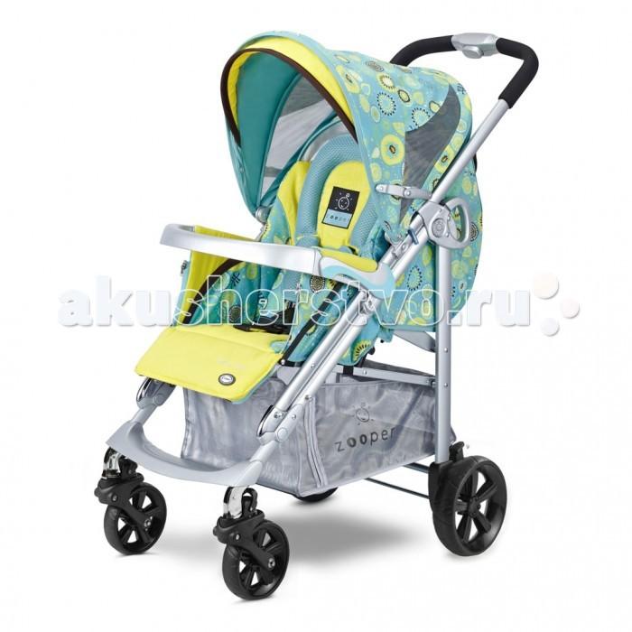 Прогулочная коляска Zooper Z9 SmartZ9 SmartПрогулочная коляска Zooper Z9 Smart: коляска Zooper Smart входит в отдельное коллекционное издание Z9. Модель Смарт отличается продуманным дизайном, уникальными характеристиками и повышенным функционалом. Ткань, используемая производителями, наряду с водоотталкивающими свойствами, хорошо пропускает воздух, поэтому малышу, сидящему внутри коляски, будет легко дышать.  В комплект входит: столешница, бампер, накидка на ножки подстаканник.   Спинка имеет четыре положение, в том числе и горизонтальное, подножка регулируется по мере необходимости в 3х положениях. Капюшон коляски Zooper Смарт заметно отличается от всех ближайших конкурентов : даже в горизонтальном положении спинки капюшон наклоняется к поручню и закрывает спящего малыша как от солнца так и от ветра. Задняя часть оснащена москитной сеткой, которая не скатывается на голову малыша за счет специальной дуги на спинке коляски. Также имеются специальные распорки, за счет которых капюшон можно натянуть. Окно на капюшоне специально тонировано от проникновения УФ лучей. Также есть клапан для прикрытия окна.  Утепленная обивка со специальным гипераллергенным покрытием тканей все материалы легко снимаются и стираются в машинке.  Ручка: цельнометаллическая с мягким покрытием в отличии конструкции ручек колясок типа трость, данной конструкцией легче управлять одной рукой.  Колеса: надежные и маневренные колеса оснащены фиксатором Zooper единственная коляска с блочными колесами, которые вращаются на металле задние колеса коляски Zooper крепятся на центральной оси, что продлевает их долговечность покрытие колес прорезиненное.<br>