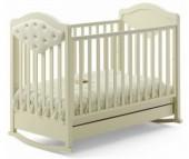 Детская кроватка Baby Italia Gioco VIP качалка cо стразами и эко-кожей