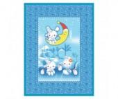 Одеяло Baby Nice (ОТК) байковое Зайка на луне 100х140 см