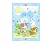 Одеяло Baby Nice (ОТК) байковое Земляничная поляна 85х115 см