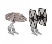 Hot Wheels Star Wars корабли Millennium Falcon  и Tie Fighter