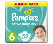 Pampers Подгузники Active Baby Dry Extra Large р.6 (15+ кг) 54 шт.