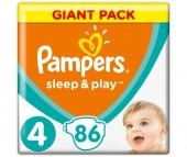 Pampers Подгузники Sleep & Play Maxi р.4 (7-14 кг) 86 шт.