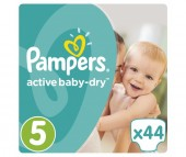 Pampers Подгузники Active Baby Dry Junior р.5 (11-18 кг) 44 шт.