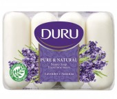 Duru Pure & Natural Мыло Лаванда 4х85 г