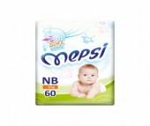 Mepsi Детские одноразовые подгузники с рельефным внутренним слоем Soft размер NB 0-6 кг 60 шт.